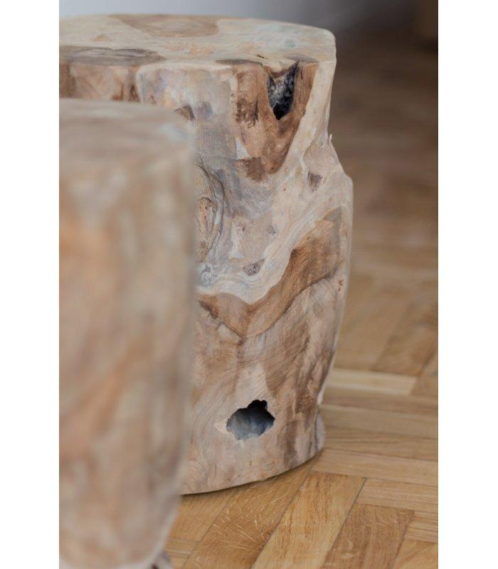 Tronco de madera maciza de teka WOODIE