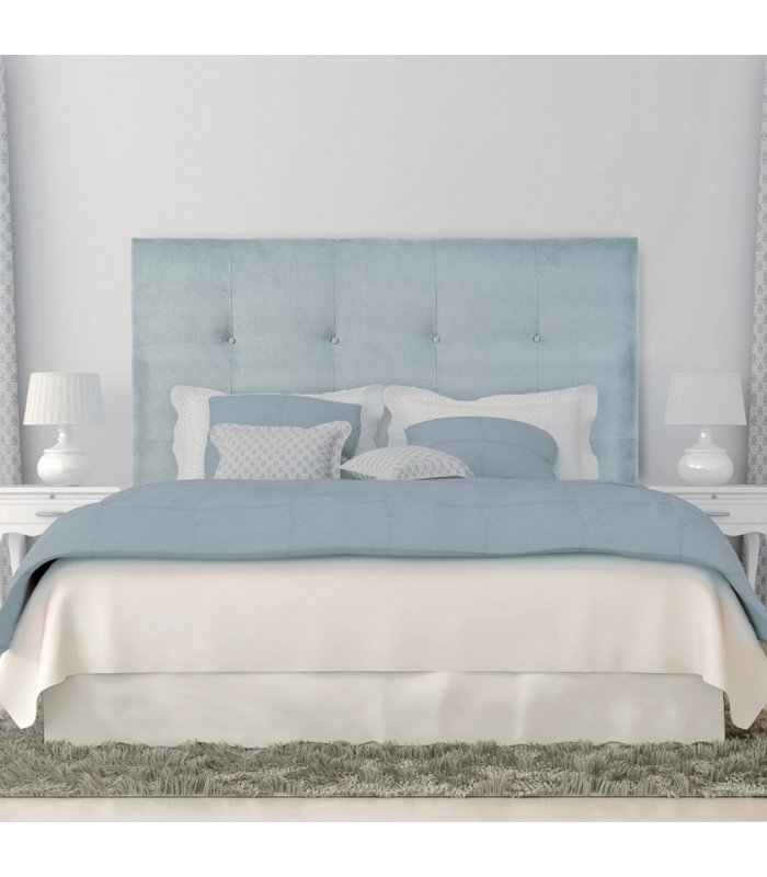 Cabecero tapizado en tela con capiton varios colores - Cabeceros tapizados tela ...