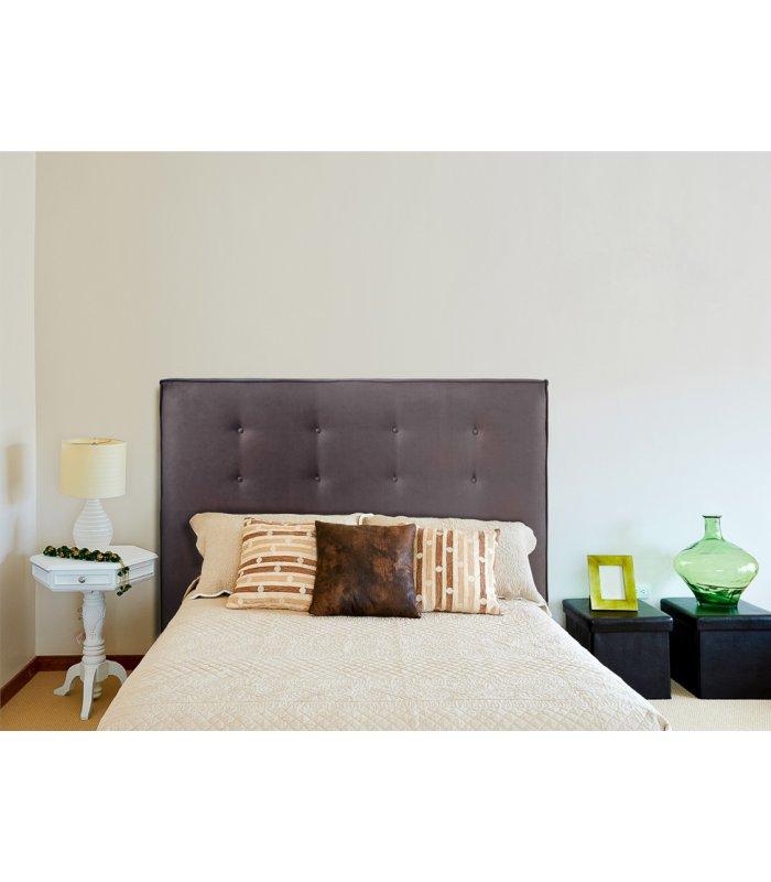 cabecero tapizado en tela sagitta varios colores - Cabecero Tela