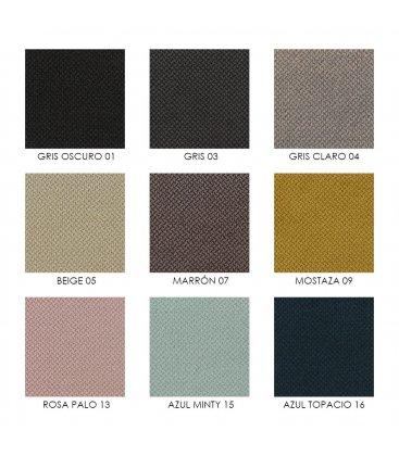 Cabecero tapizado en tela SAGITTA (varios colores)