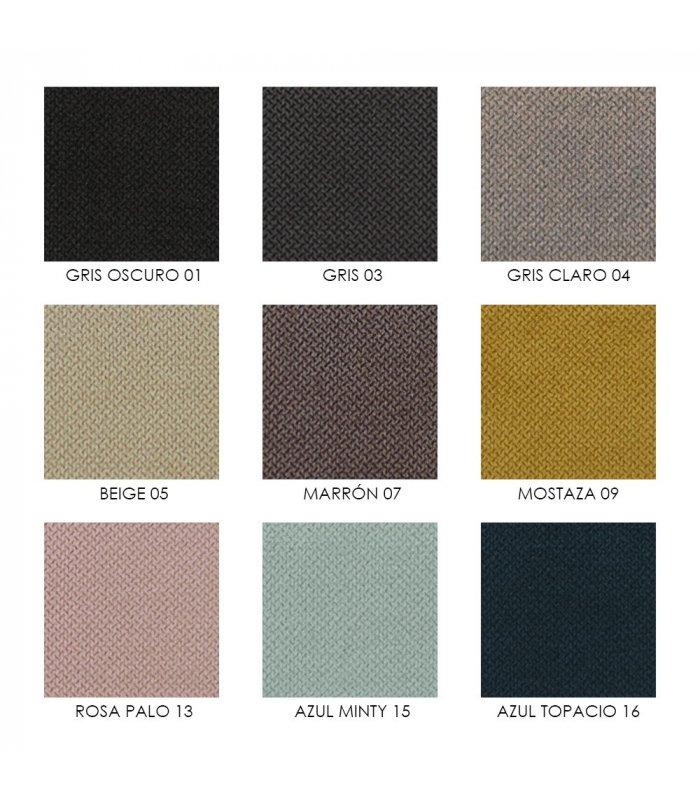 Cabecero tapizado en tela con capiton varios colores - Cabeceros de tela decoracion ...