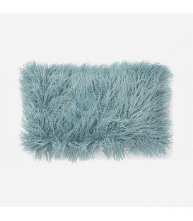 Cojín rectangular de pelo azul 30x50cm