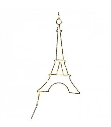 Guirnalda con forma de torre Eiffel de luces LED pequeña