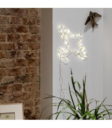Guirnalda con forma de avión de luces LED