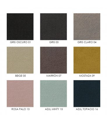 Sillón tapizado de estilo mid century OSLO (varios colores).