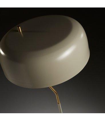 Lámpara de pie dorado y pantalla gris MUSH