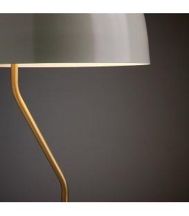 Lámpara de sobremesa metálica gris topo y dorado MUSH