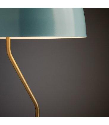 Lámpara de sobremesa metálica azul y dorado MUSH