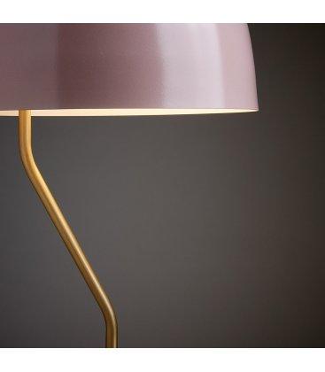 Lámpara de sobremesa metálica rosa y dorado MUSH