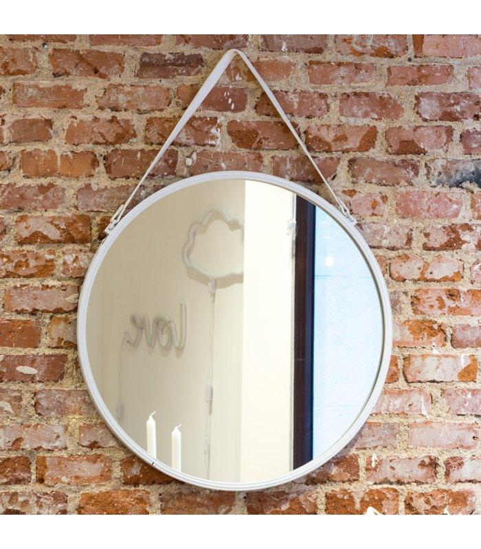 Espejo Redondo Blanco Arti