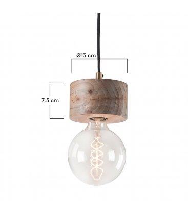 Lámpara de techo de madera natural RELA