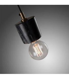Lámpara de techo de mármol negro cilíndrico