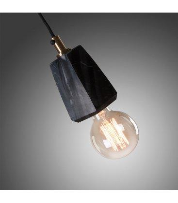Lámpara de techo de mármol negro faceteado