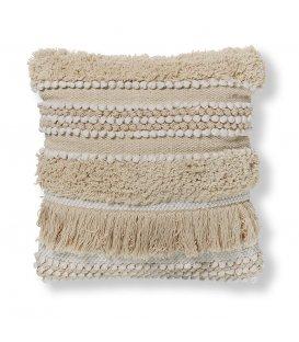 Cojín de algodón blanco JAMILA 45x45cm