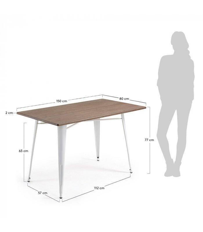 Mesa rectangular para interior y exterior patas met licas - Patas metalicas para mesas ...