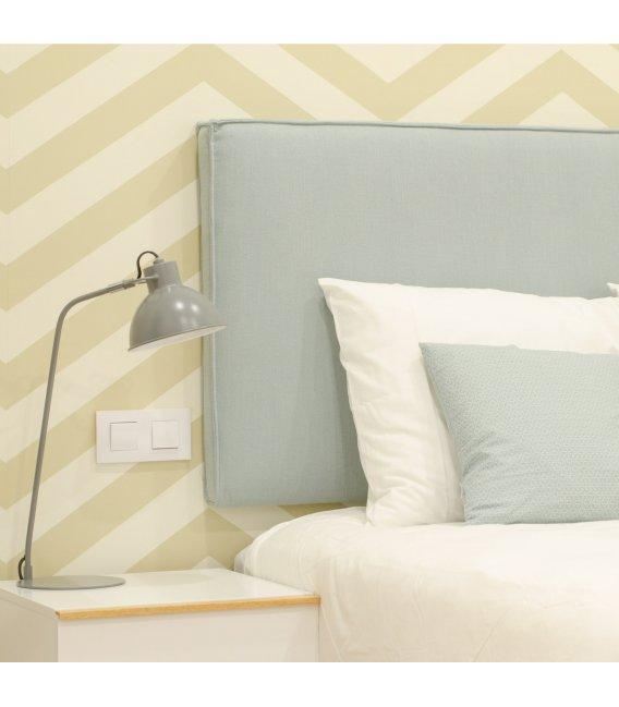 Cabecero tapizado en tela para colgar colores - Cabeceros de cama tapizados tela ...