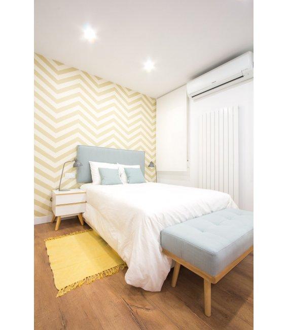 Cabecero tapizado en tela para colgar colores - Cabeceros de cama tapizados en tela ...