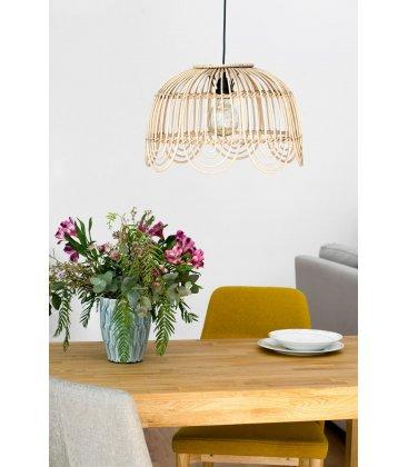 Lámpara de techo de bambú