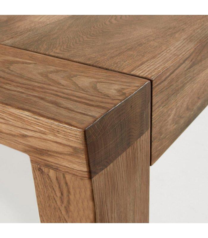 Mesa de comedor extensible de madera maciza de roble for Madera para mesa de comedor