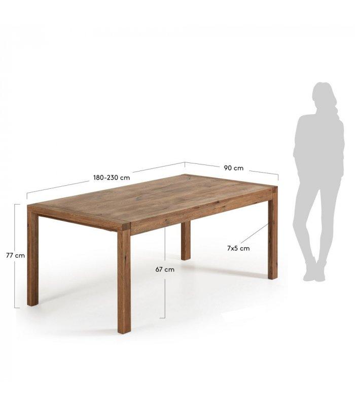 Mesa de comedor extensible de madera maciza de roble - Mesa comedor madera maciza ...