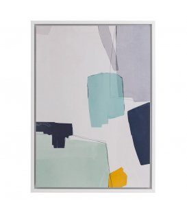 Cuadro abstracto motivos azules n2 65x92,5cm