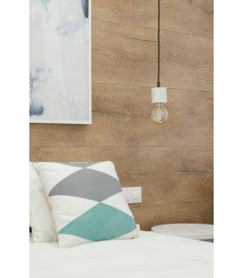 Lámpara de techo con casquillo de mármol blanco cilíndrico