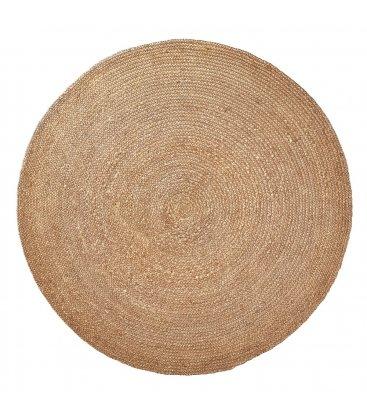 Alfombra circular de yute en color natural (varios tamaños)