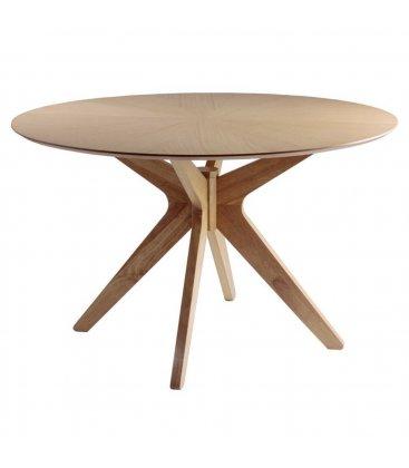 Mesa de comedor roble redonda BORNE diámetro 120 cm
