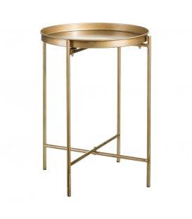 Mobiliario r de room - Mesa auxiliar dorada ...
