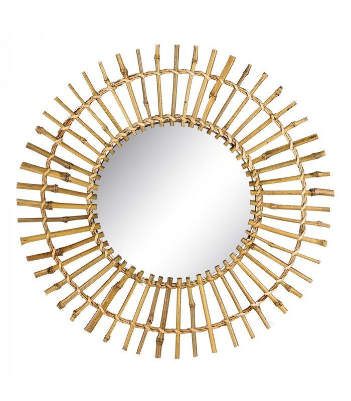 Espejo redondo de bambú NATURE 04