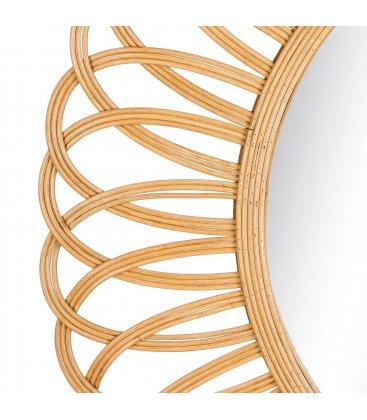 Espejo redondo de bambú NATURE 05