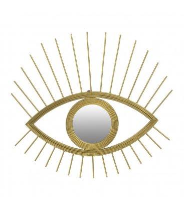 Espejo dorado forma ojo CYCLOP