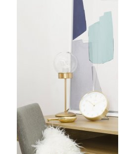 Lámpara de sobremesa de latón y tulipa cristal transparente bola ATOM