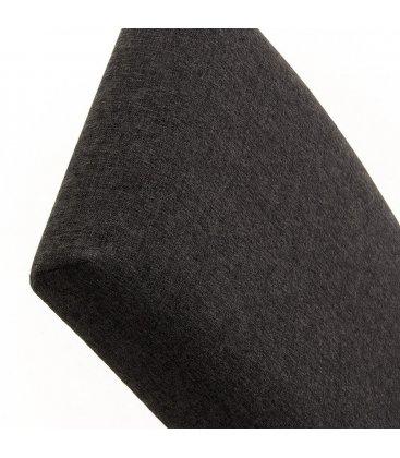 Silla de comedor desenfundable gris grafito FRIDA (2 unidades).
