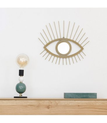 Espejo dorado forma ojo CYCLOPS