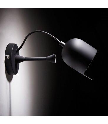 Lámpara de pared en negro con foco orientable NILO