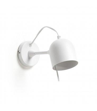 Lámpara de pared en blanco con foco orientable NILO