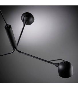 Lámpara de techo en negro con 3 focos orientables NILO