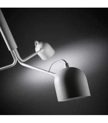 Lámpara de techo en blanco con 3 focos orientables NILO