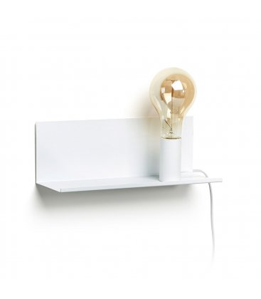 Aplique con estante metálico en blanco TRAY (2 tamaños)