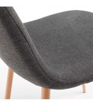 Silla de comedor tapizada en gris oscuro NILSON  (2 unidades)