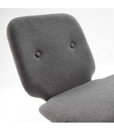Silla de comedor tapizada en gris oscuro SQUARE  (2 unidades)