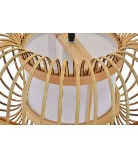 Lámpara de techo circular de bambú NARUKO diámetro 45cm