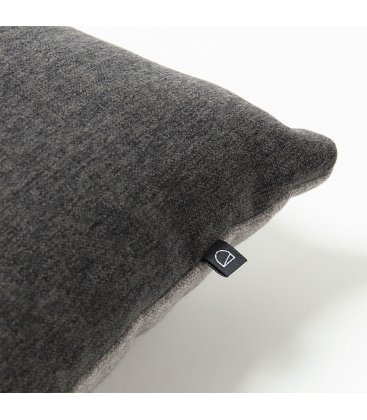 Cojín rectangular gris oscuro y corcho CORK 50x30cm
