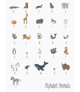 Lámina metálica con alfabeto de animales