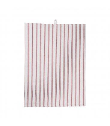 Paño de algodón multiusos blanco y rojo 70x50cm