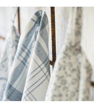 Paño de algodón multiusos blanco y azul 70x50cm