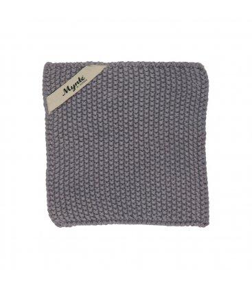 Mini toalla de tocador gris oscuro 22x22cm