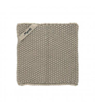 Mini toalla de tocador beige 22x22cm