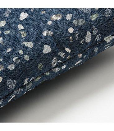 Cojín cuadrado estampado azul oscuro TERRAZZO 45x45cm